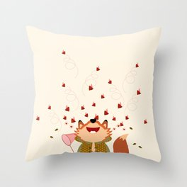 Chasser les papillons Throw Pillow