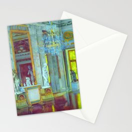 Italian Renaissance Romanesque Palazzo Grand Hall Portrait by Konstantin Yuon Stationery Cards