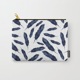 Watercolor pattern with navi feathers Carry-All Pouch