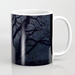 Raven and Rat Skeleton in Moonlight - Halloween Coffee Mug