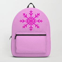 Girly Hot Pink Snowflake Backpack