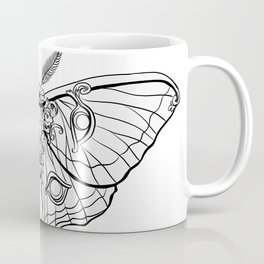 Art Nouveau Moth (white background) Coffee Mug