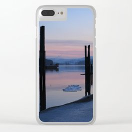 Sunset on the ice Clear iPhone Case