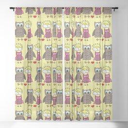 The Fun Owls Yellow Sheer Curtain