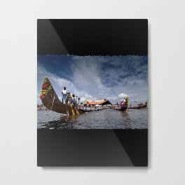 Snake Boats posing… 169 Metal Print