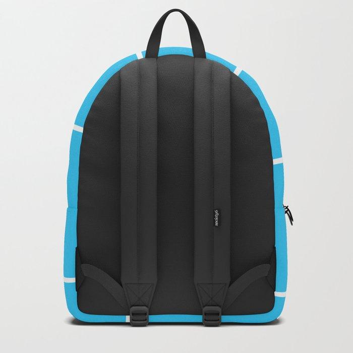 Aqua Teal- Maritime Aqua Teal Stripes Pattern 1 - Mix & Match Backpack