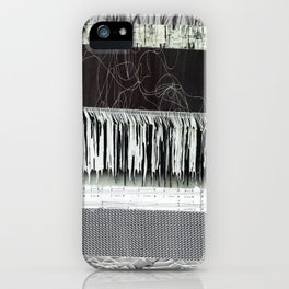 Collage - Black on White iPhone Case