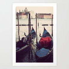 Italian Boat Dock Art Print