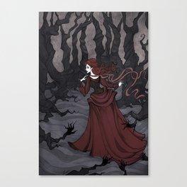 Unfriendly woods Canvas Print