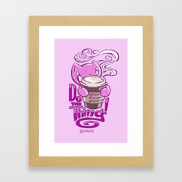Scribbles: DO THE THING (pink) Framed Art Print
