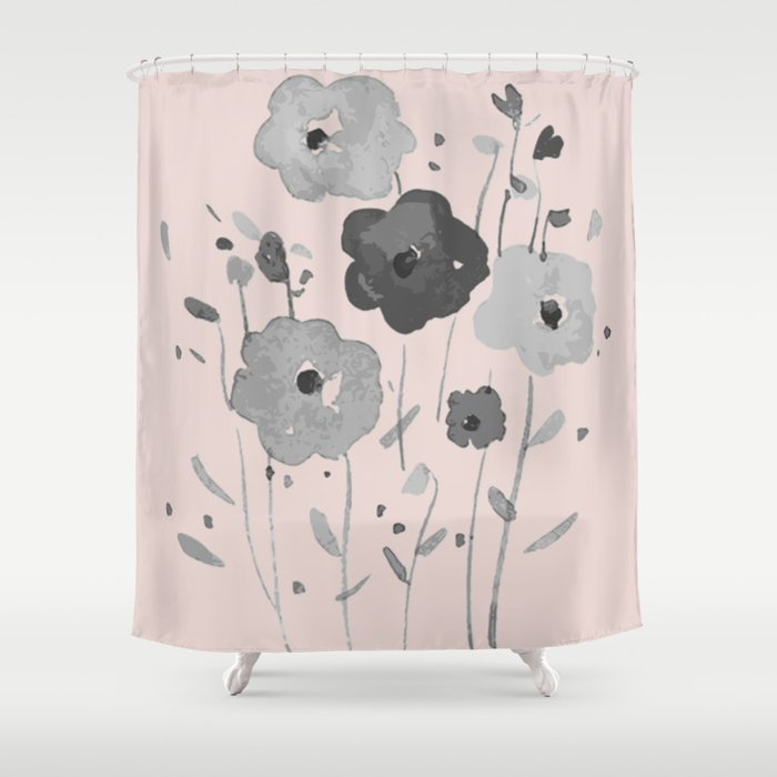 Whimsical spring bloom Shower Curtain