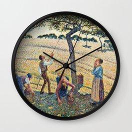 Camille Pissarro - Apple Harvest Wall Clock