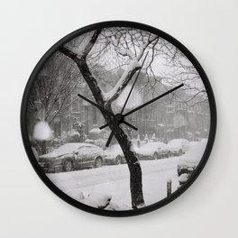 SNOWY BROOKYN Wall Clock