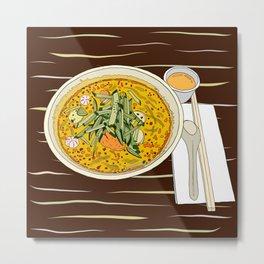 Singapore Laksa Noodle Metal Print
