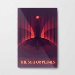 Io - The Sulfur Plumes Metal Print