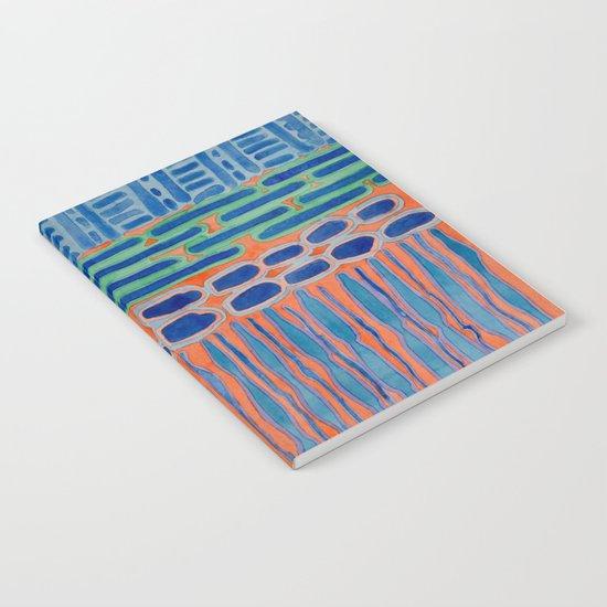 Blue Shapes Pattern Notebook