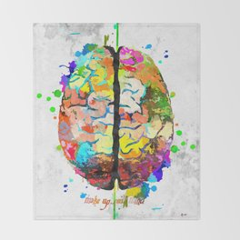 Human Brain Throw Blanket