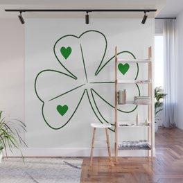 Irish Shamrock Love Wall Mural