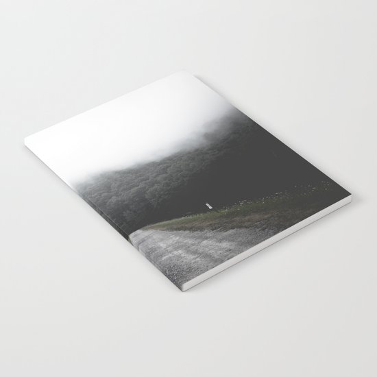 Foggy Road Notebook