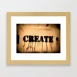 Create 2 Framed Art Print