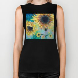 Supermassive Sunflowers Biker Tank
