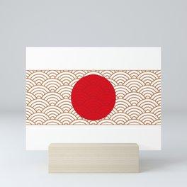Ornamented Japanese Flag Mini Art Print