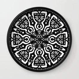 Polish Papercut Dancers Black Wall Clock