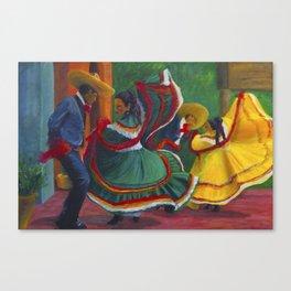 Baile Folklorico Canvas Print