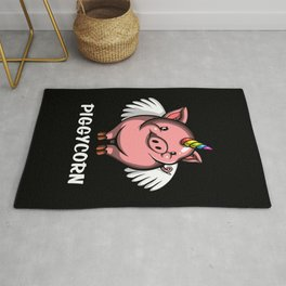 Piggycorn Pig Unicorn Farm Animal Rug