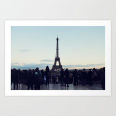 Eiffel by Evening Art Print