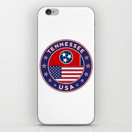 Tennessee, USA States, Tennessee t-shirt, Tennessee sticker, circle iPhone Skin