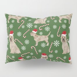 Cairn Terrier dog breed christmas snowflakes candy canes winter holiday pet gifts Pillow Sham