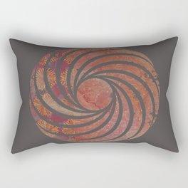 Caravans II:  Asian Print  Plum, gold, pink grey origami textile geometric design Rectangular Pillow