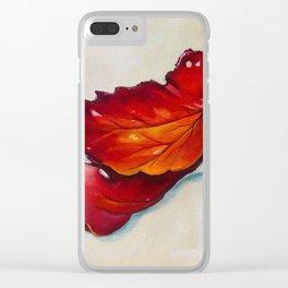 Platanus Leaf Clear iPhone Case