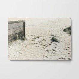 Sandy Beachy Dreamy Metal Print