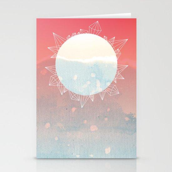 crystal sunrise Stationery Cards