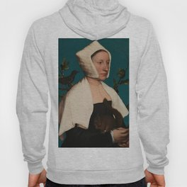 PORTRAIT OF A LADY WITH A SQUIRREL AND A STARLING - HANS HOLBEIN Hoody