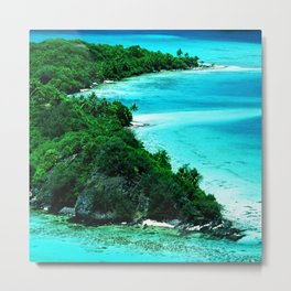 Tahiti Motu (Island) in French Polynesia Metal Print