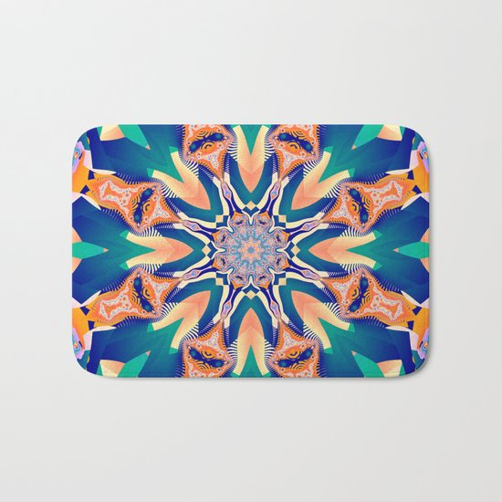 Abstract kaleidoscope with tribal patterns Bath Mat