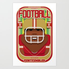 American Football Red and Gold - Enzone Puntfumbler - Hayes version Art Print
