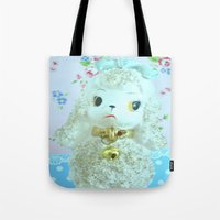 poodle Tote Bags featuring Poodle by Vintage  Cuteness