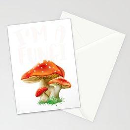 Funny Mushroom Morel Hunter Mycology  Design Stationery Cards