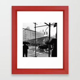 Rainy City Framed Art Print