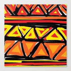 Hot Triangles Canvas Print