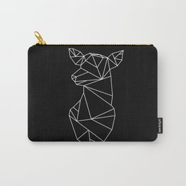 Geometric Doe (White on Black) Carry-All Pouch