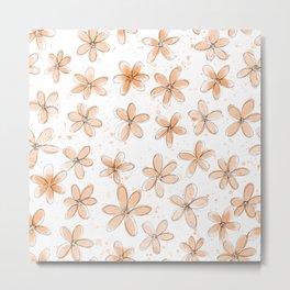 Floral Pattern #6 | Light Peach Metal Print
