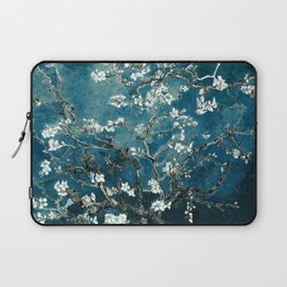 Van Gogh Almond Blossoms : Dark Teal Laptop Sleeve
