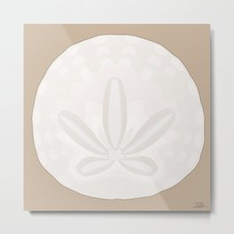 California Sand Dollar Metal Print