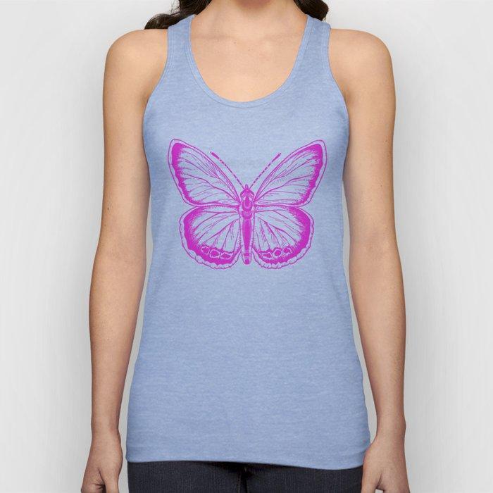 Butterfly - Violet - Beautiful - purple Unisex Tank Top