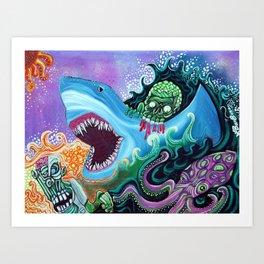Zombie HandFishin Art Print